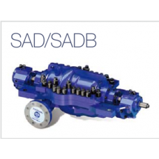 SA-series axial split diffuser type, multi-stage pump/back to back (API610 Type BB3)